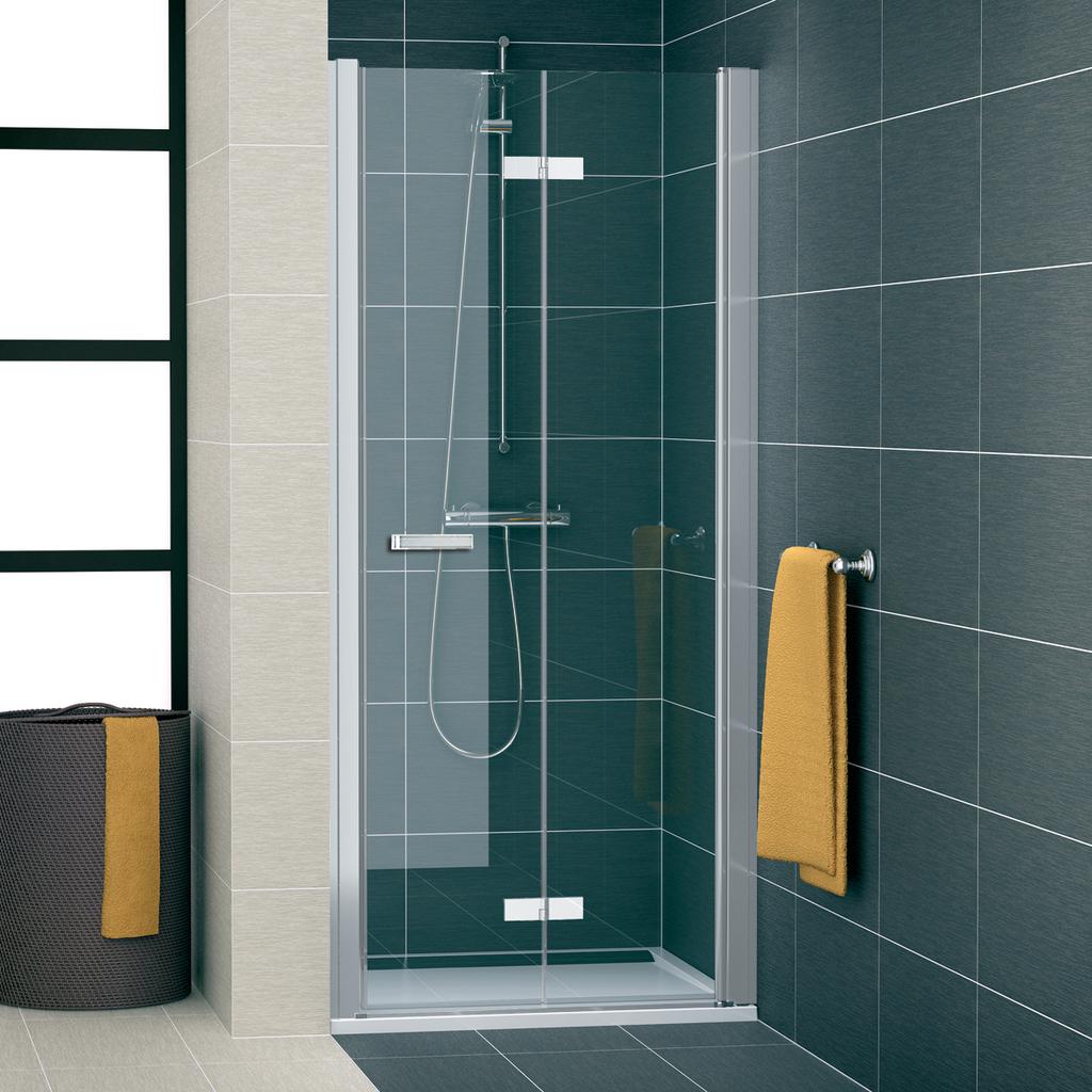 SanSwiss SLF1D 1000 01 07 Sprchové dveře dvoudílné skládací 100 cm pravé SLF1D10000107