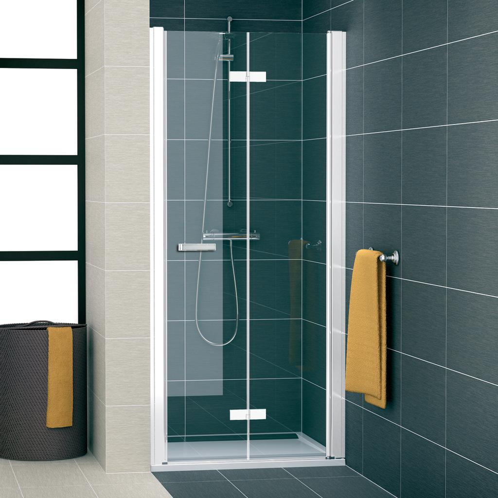 SanSwiss SLF1D 1000 04 07 Sprchové dveře dvoudílné skládací 100 cm pravé SLF1D10000407