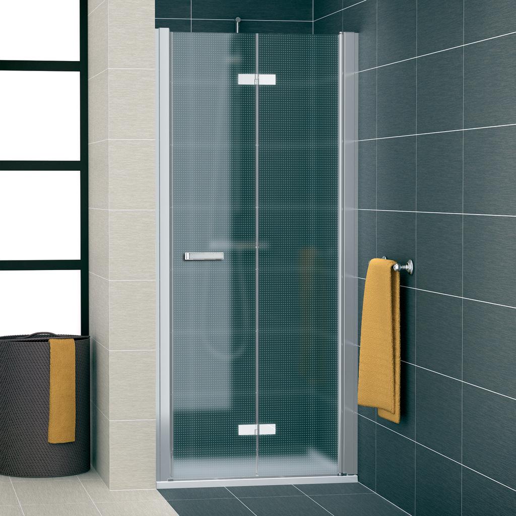 SanSwiss SLF1D 1000 01 30 Sprchové dveře dvoudílné skládací 100 cm pravé SLF1D10000130