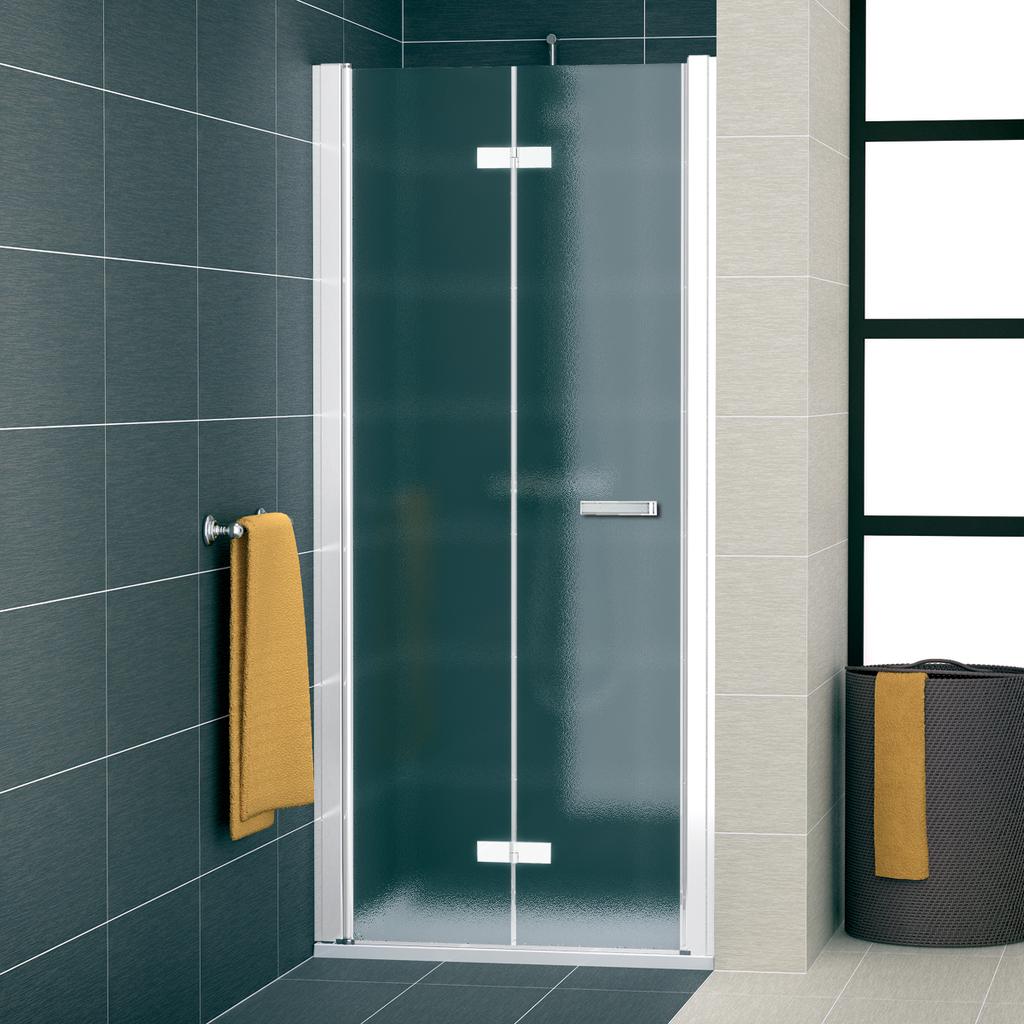 SanSwiss SLF1G 1000 04 22 Sprchové dveře dvoudílné skládací 100 cm levé SLF1G10000422