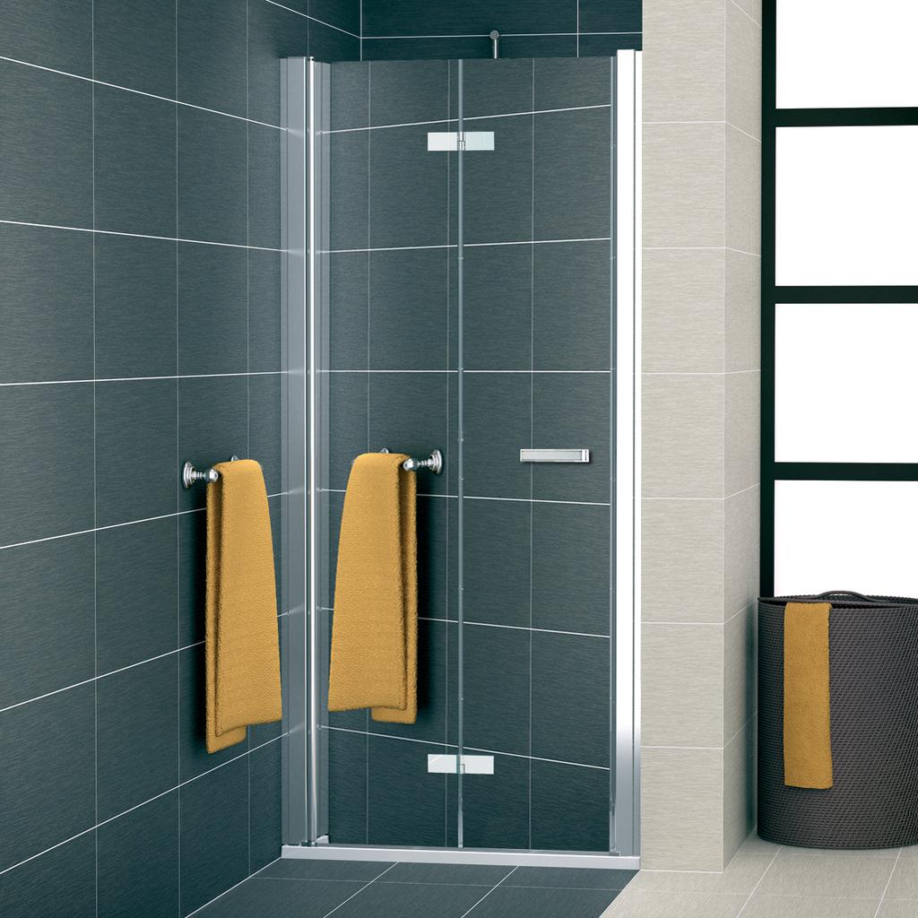 SanSwiss SLF1G 0900 50 53 Sprchové dveře dvoudílné skládací 90 cm levé SLF1G09005053