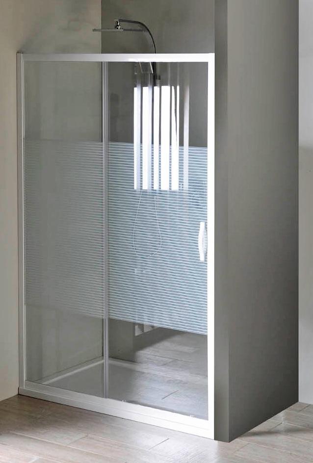 Gelco GE6911 Sprchové dveře dvoudílné posuvné - sklo Strip