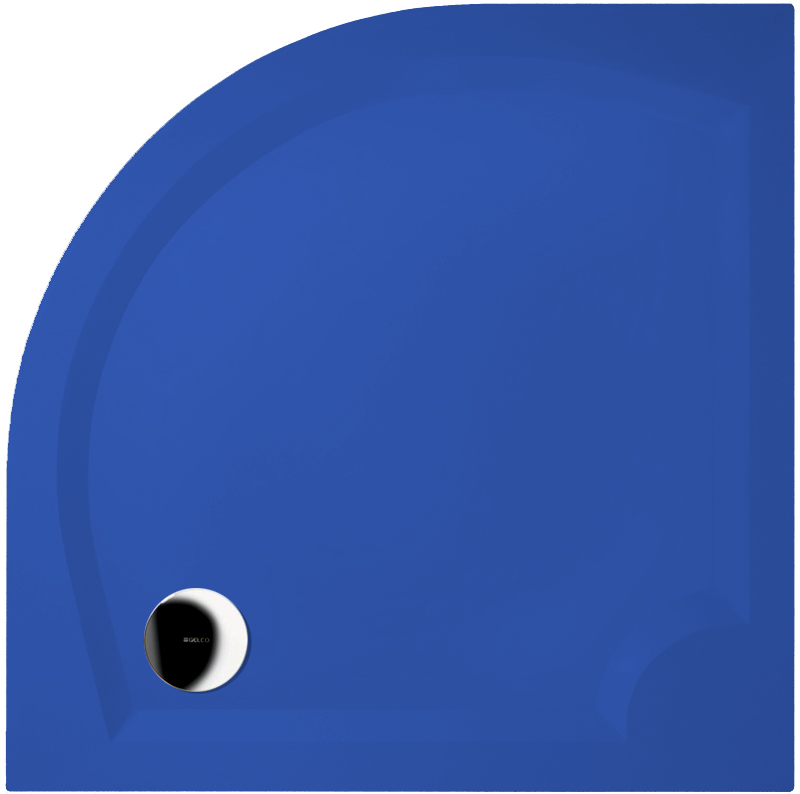 Gelco LAURA 90 GL509 RAL 5017 Sprchová vanička čtvrtkruhová - hladká, Trafic blue