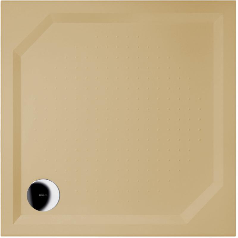 Gelco ANETA 80 RAL1001 Sprchová vanička čtvercová - profilovaná