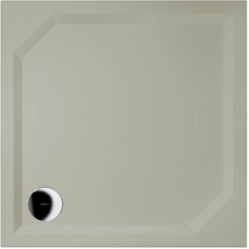 Gelco ANETA 80 RAL7032 Sprchová vanička čtvercová - profilovaná