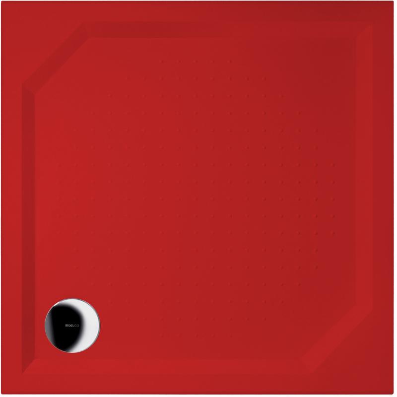 Gelco ANETA 100 GA001 RAL 3020 Sprchová vanička čtvercová - profilovaná