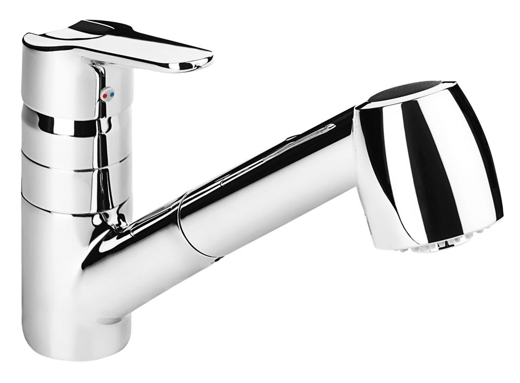 Jika H3511810043001 Dřezová baterie stojánková s výsuvnou sprchou