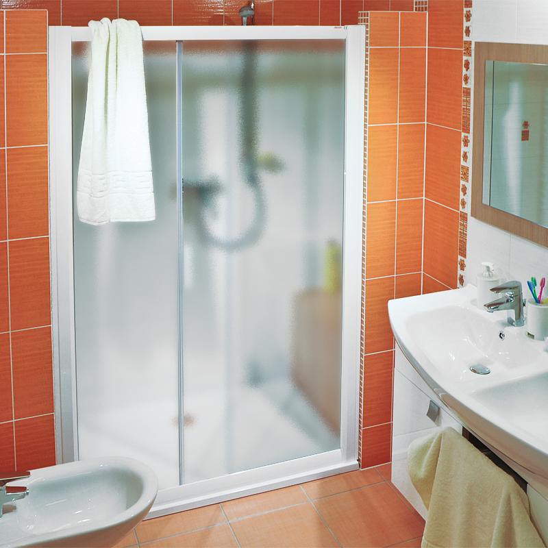 Ravak NRDP2-100 LEVÉ GRAPE Sprchové dveře dvoudílné 100 cm bílé 0NNA010LZG