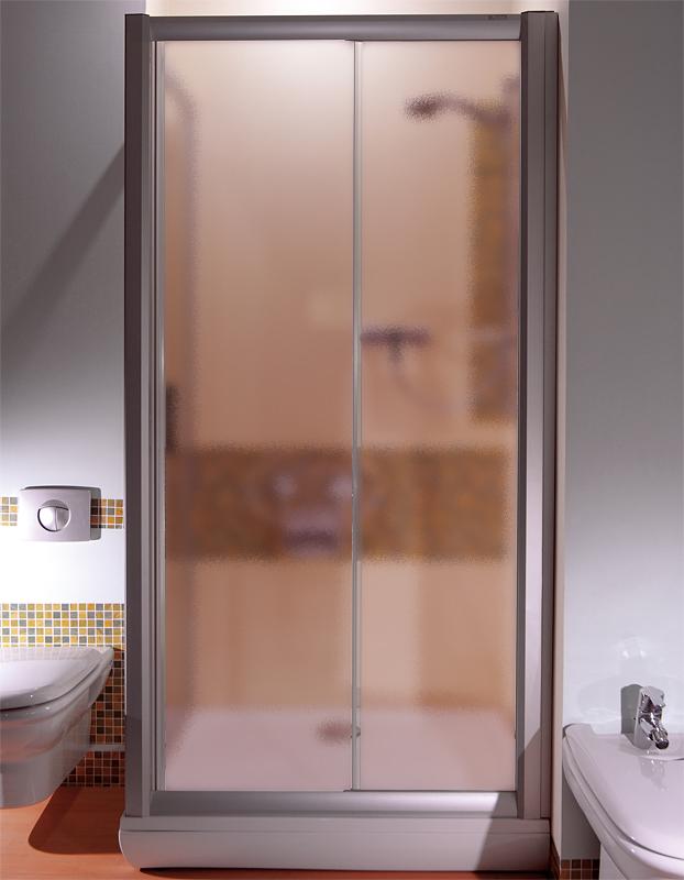 Ravak NRDP2-110 LEVÉ GRAPE SATIN Sprchové dveře dvoudílné 110 cm satin