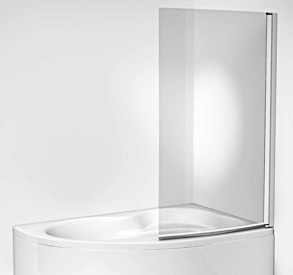 Jika H2562420026681 Vanová zástěna jednodílná 153 × 91 cm, transparent