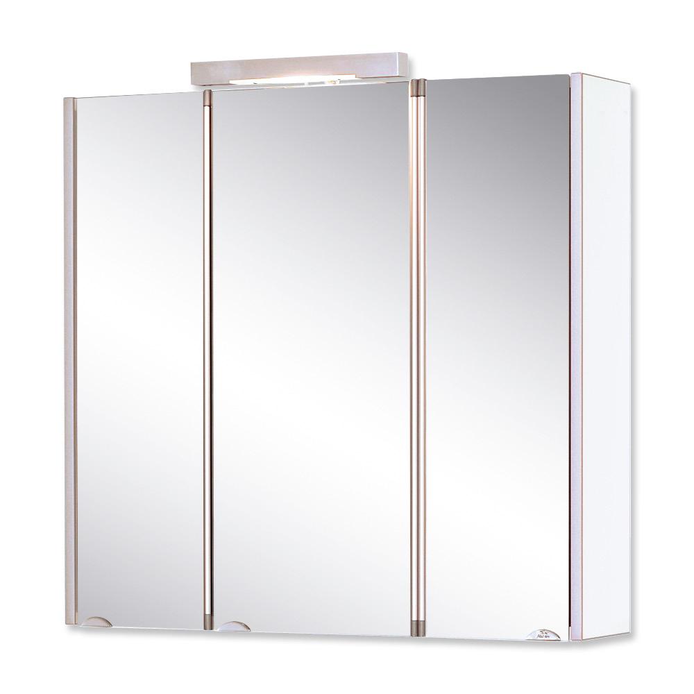 Jokey Plastik MANDIOL III Zrcadlová skříňka - bílá/čelo aluoptika