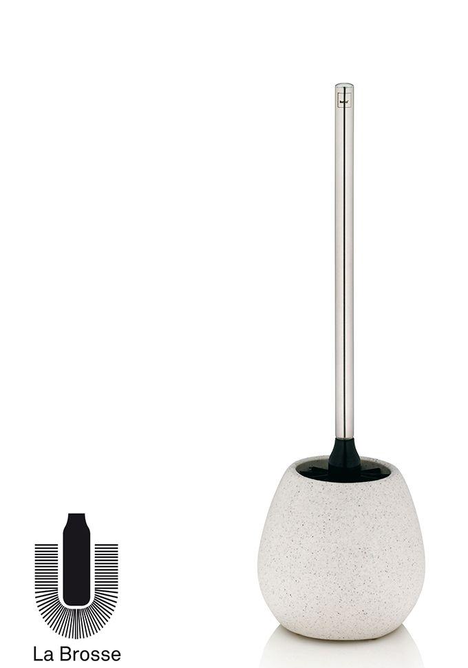 Kela 21276 BARIUM Stojan s WC štětkou keramický - šedý granit