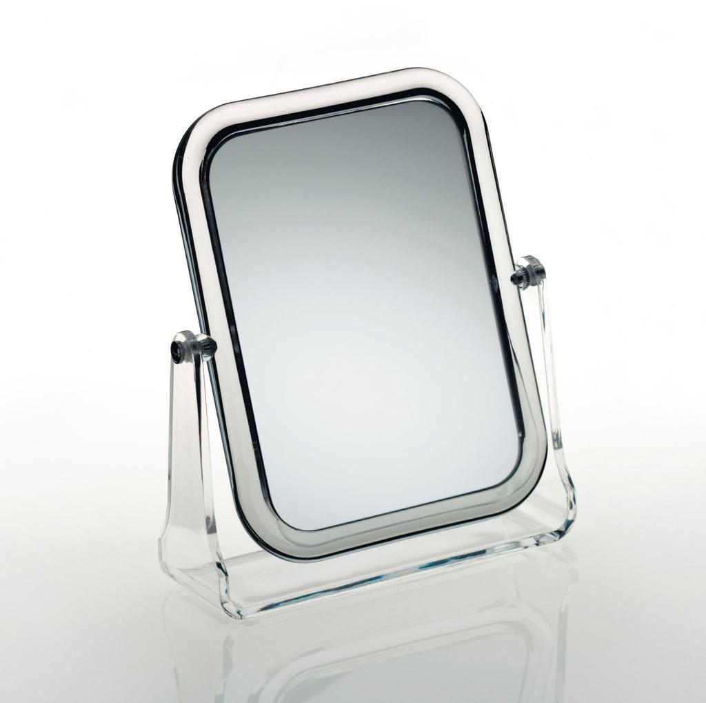20719 FIONA Zrcadlo kosmetické se stojánkem - čiré plexi 20719