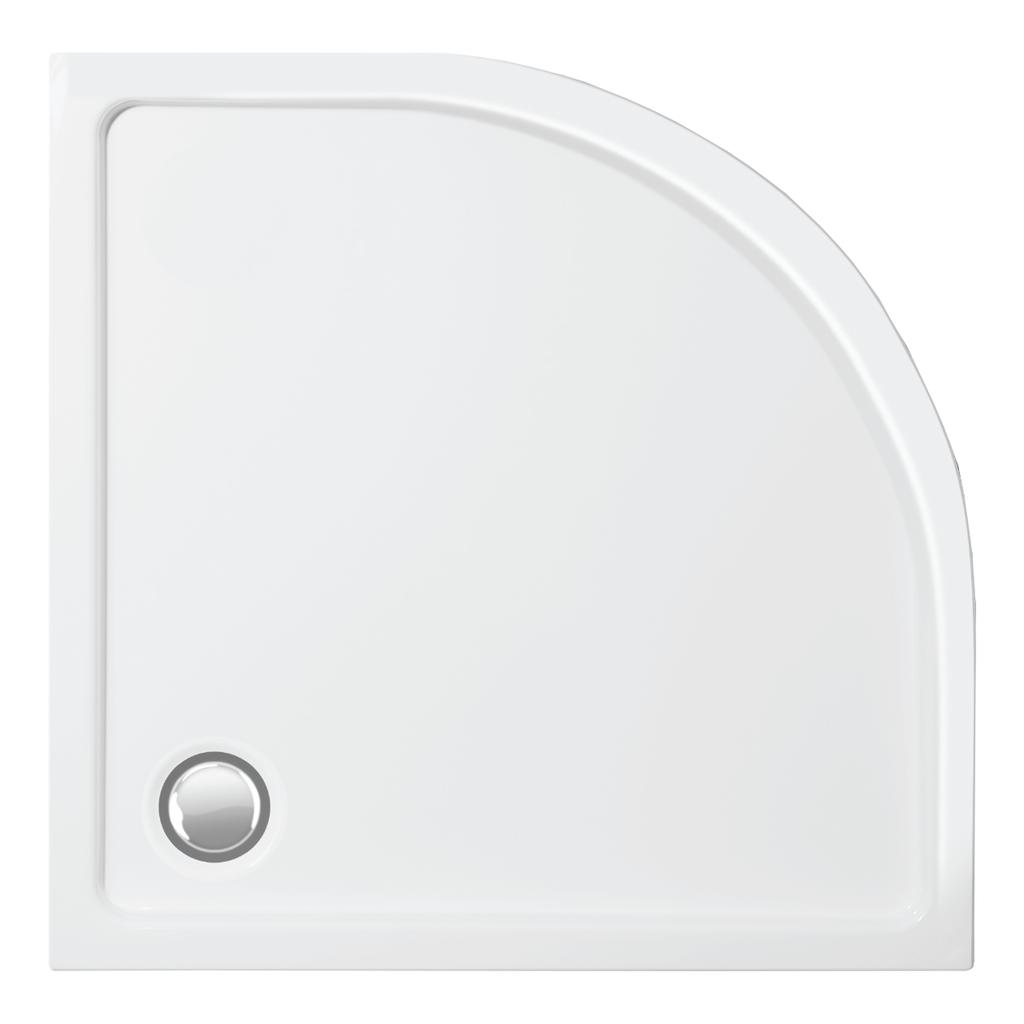 Vagnerplast SATURN 90×90 Sprchová vanička čtvrtkruhová 90×90×4