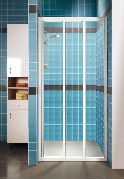 Ravak ASDP3-100 TRANSPARENT Sprchové dveře třídílné 100 cm bílé