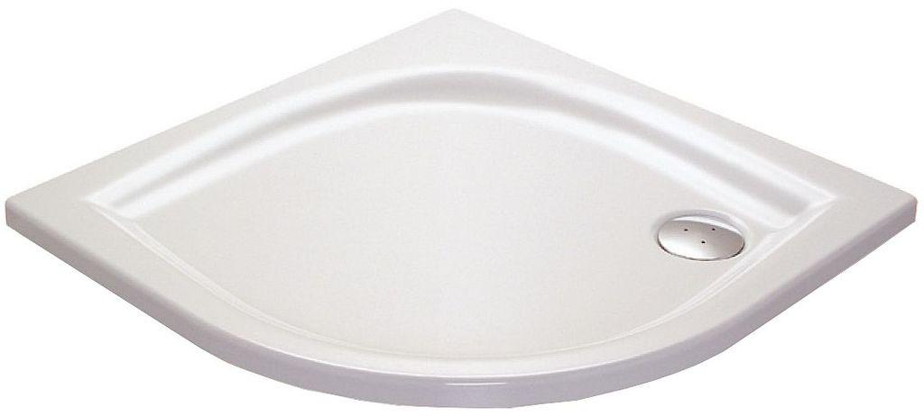 Ravak ELIPSO 90 LA Sprchová vanička čtvrtkruhová 90×90 cm - bílá