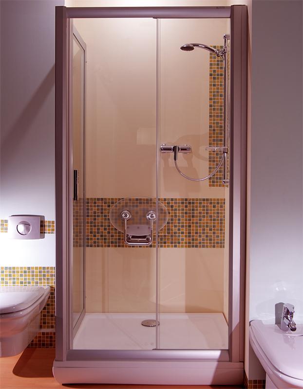 Ravak NRDP2-100 PRAVÉ TRANSPARENT Sprchové dveře dvoudílné 100 cm satin