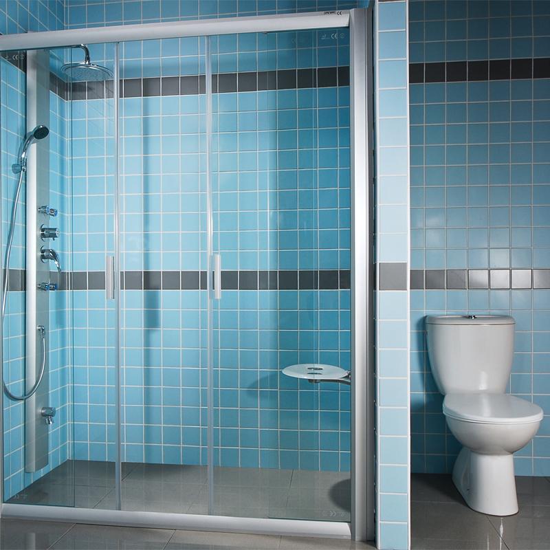 Ravak NRDP4-120 TRANSPARENT Sprchové dveře čtyřdílné 120 cm satin