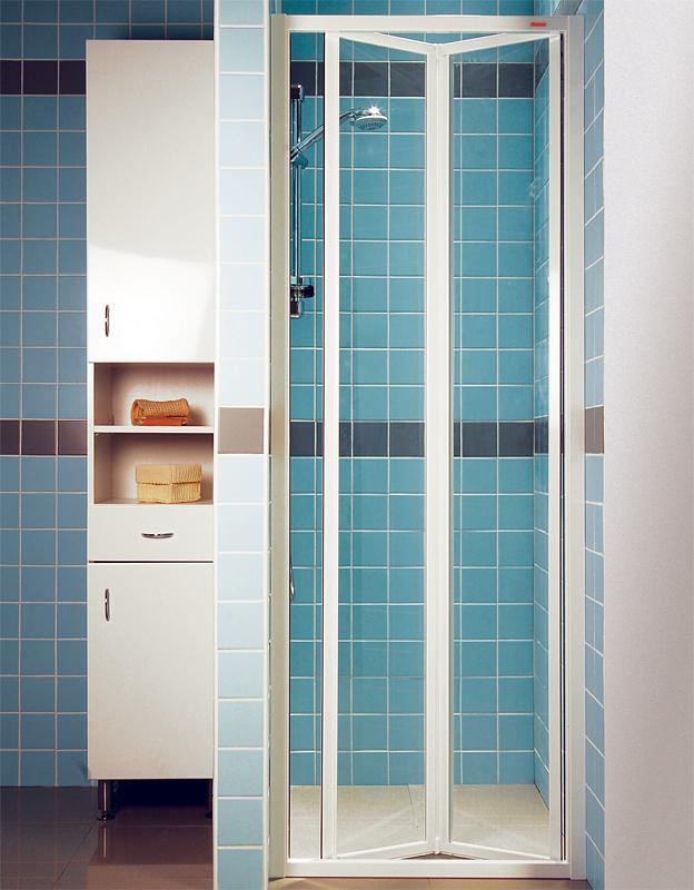 Ravak SDZ2-70 TRANSPARENT Sprchové dveře zalamovací 70 cm bílé