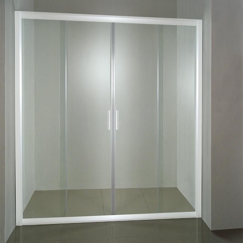 Ravak NRDP4-120 TRANSPARENT Sprchové dveře čtyřdílné 120 cm bílé