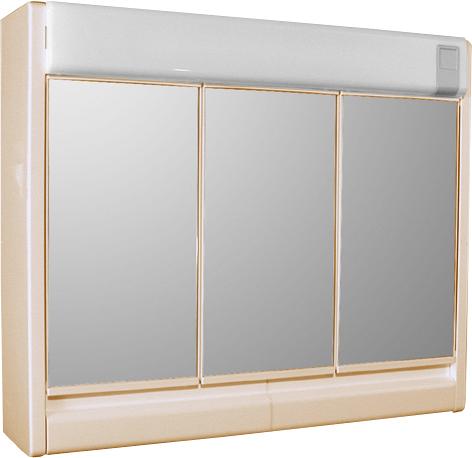 Jokey Plastik RUBÍN BEIGE Zrcadlová skříňka se žárovkou 2x40 W - béžová 86133-061