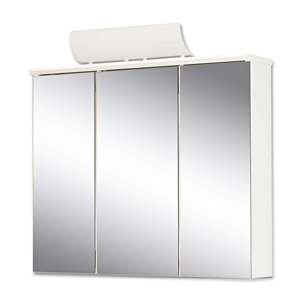 Jokey Plastik MANOS Zrcadlová skříňka se zářivkou - bílá