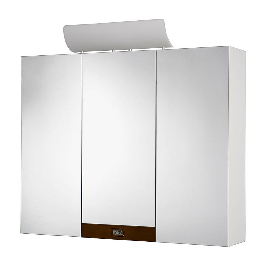 Jokey Plastik TAGONA BD Zrcadlová skříňka - bílá/dekorační lišta - dřevo 113113220-0631