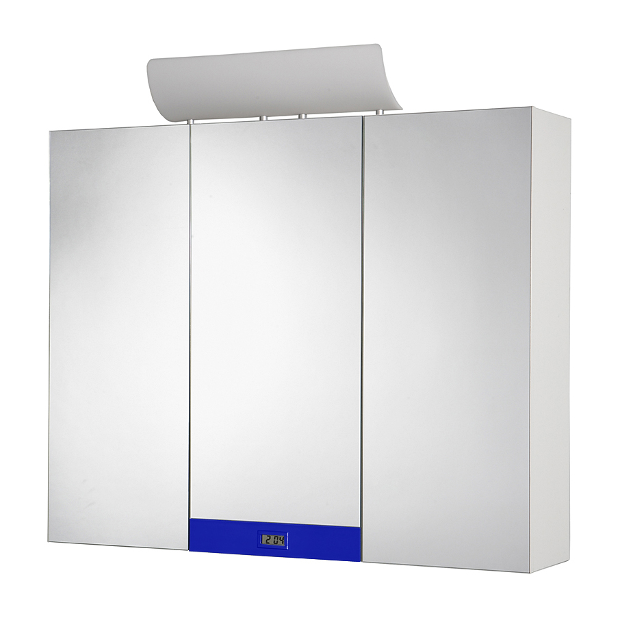 Jokey Plastik TAGONA BM Zrcadlová skříňka - bílá/dekorační lišta - modrá 113113220-0400