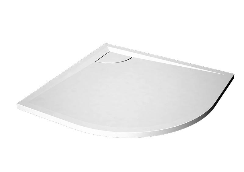 DIVINE 9090R - sprchová vanička čtvrtkruhová