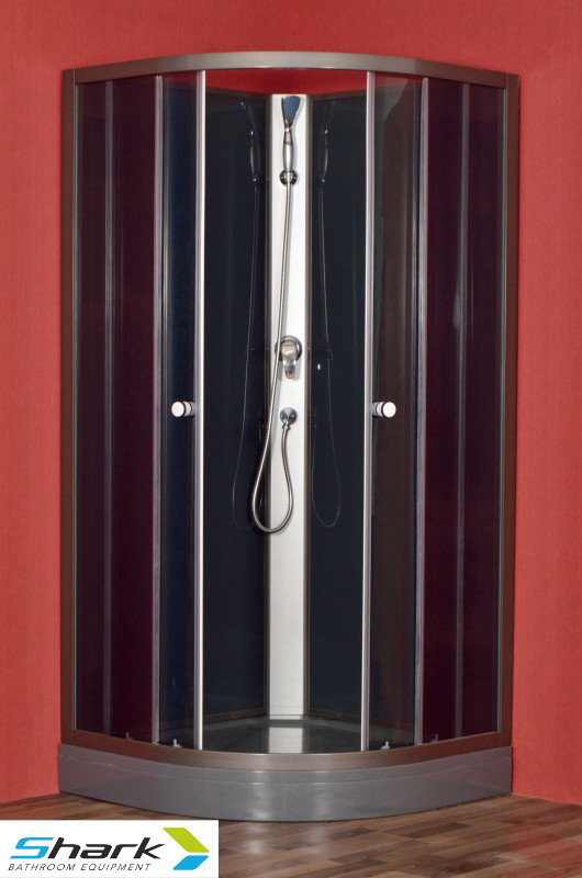 ROSA STONE - Sprchový box s vaničkou z litého mramoru 90x90x200cm