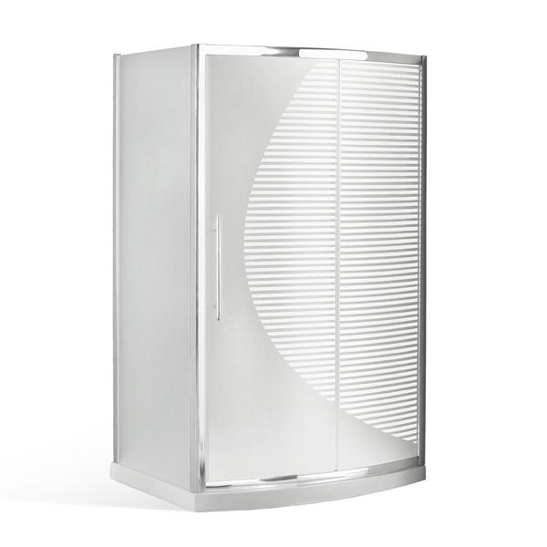 Kombinace sprchového koutu AREA a akrylové vaničky Obdélníkový sprchový kout 1200x800 mm s vaničkou. 4000342