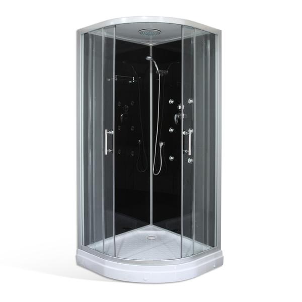 Hydromasážní sprchový box BONDY BLACK /900 masážní 900x900 mm 4000664