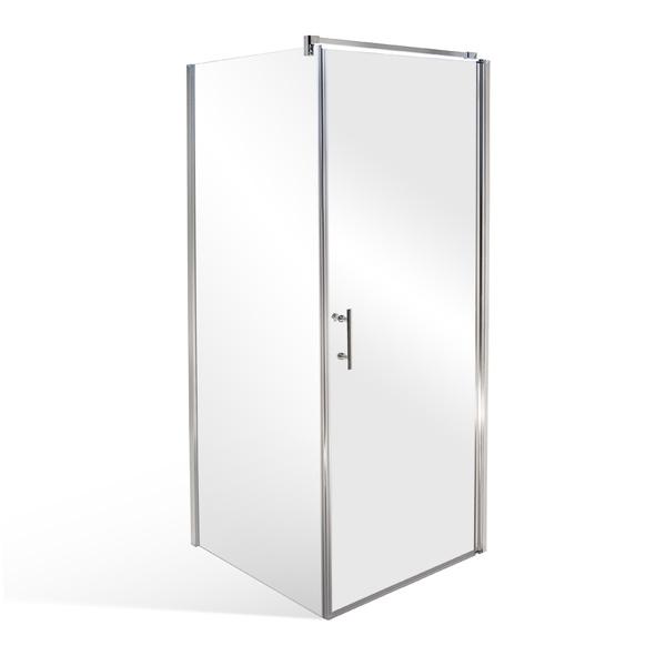 Čtvercový nebo obdélníkový sprchový kout CLIPPER - otevírací dveře s pevnou stěnou 900x800 mm CLIPPER_D90-W80