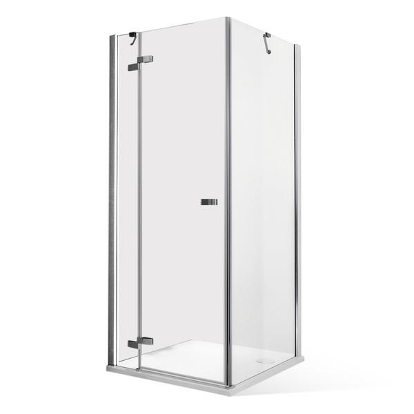 Čtvercový sprchový kout CORNER ELEGANT LEFT s otevíracími dveřmi a pevnou stěnou 900x900 mm 115-9090ISL-00-02