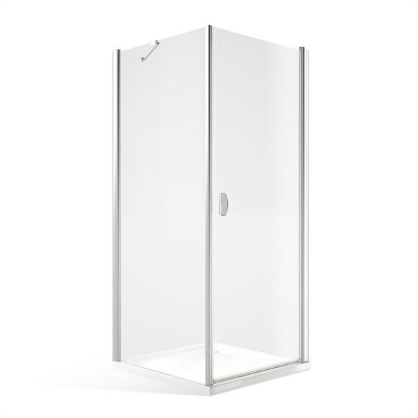 Čtvercový nebo obdélníkový sprchový kout DCO1+DB - otevírací dveře s pevnou stěnou 1000x800 mm DCO100-DB80