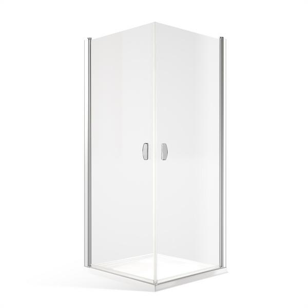 Bezbariérový sprchový kout DCO1+DCO1 - 2x otevírací dveře Čtvercový 1000x1000 mm DCO1-L100-P100