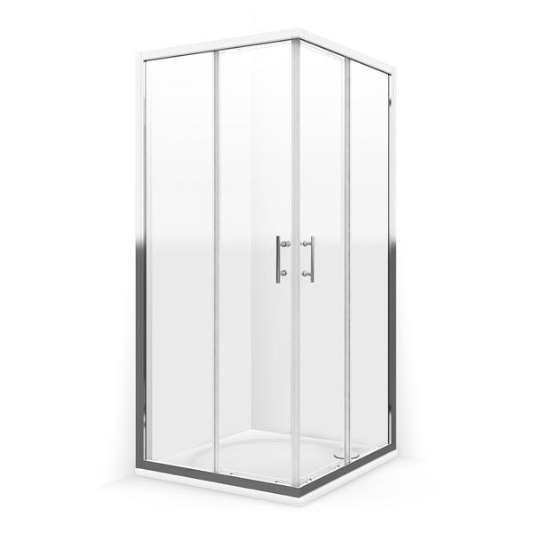 Čtvercový sprchový kout GLOBAL 900x900 mm, vstupní otvor 430 mm. 559-9000000-00-02