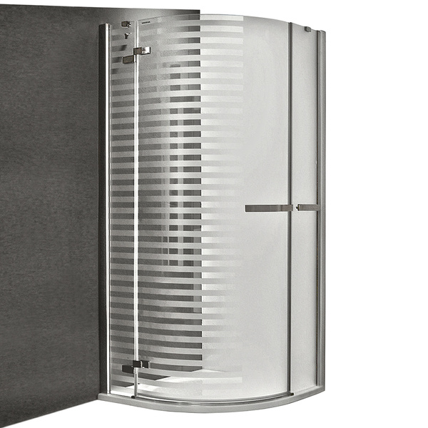 Čtvrtkruhový sprchový kout GR1 Design Plus PRAVÝ 900 × mm. Instalační rozměr 875-890 130-900000P-00-17