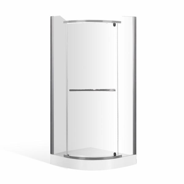 Čtvrtkruhový sprchový kout HIT s jednokřídlými otevíracími dveřmi 800x800 mm 4000270