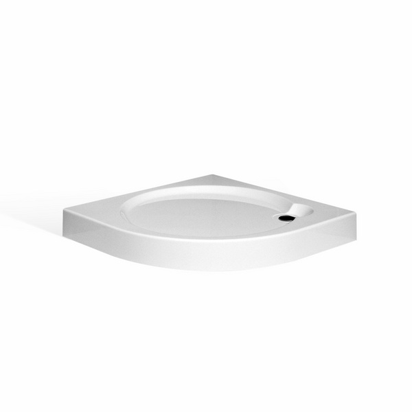 Samonosná sprchová vanička iROUND Čtvrtkruhová 800x800 mm 8000231