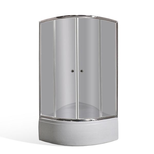 Sprchový kout MADISON a polohluboká vanička SEMIDEEP NEO 80x80x197cm N0503-8000197