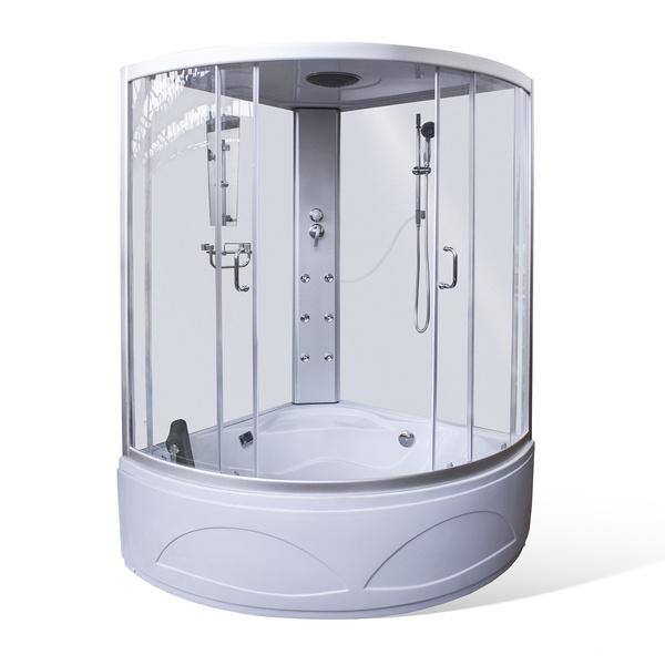 Hydromasážní sprchový box MAIA masážní s vanou 1350x1350 mm 4000657