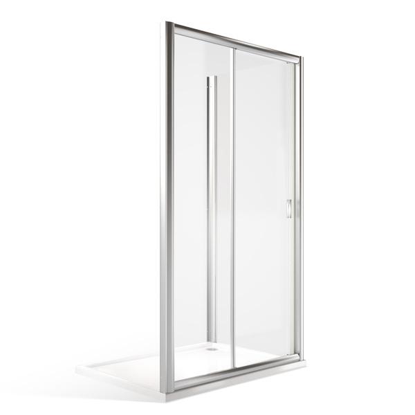 Obdélníkový sprchový kout MD2+MB - posuvné dveře a pevná stěna 1300x1000 mm MD2-130-MB100