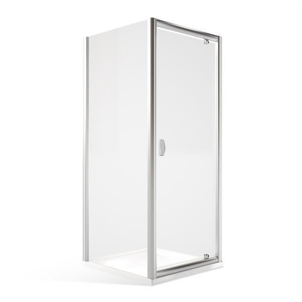 Sprchový kout obdélník MDO1+MB - otevírací dveře a pevná stěna Čtvercový 900x900 mm MDO1-90-MB90