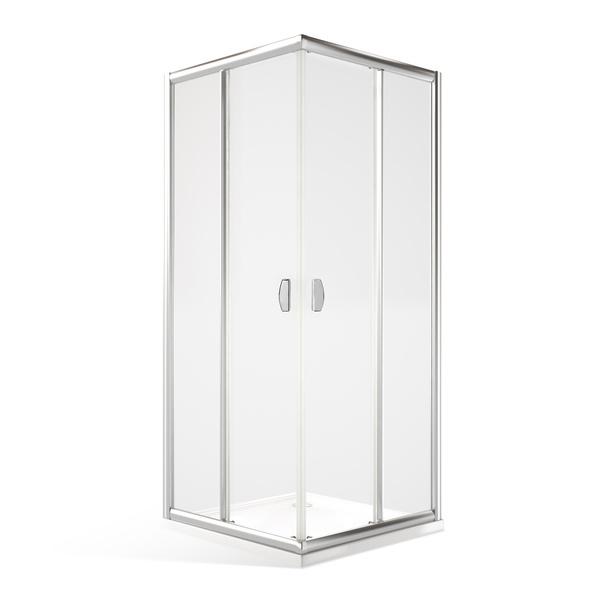 Sprchový kout MS2L+MS2P s dvoudílnými posuvnými dveřmi Čtvercový 1000x1000 mm MS2-L100-P100
