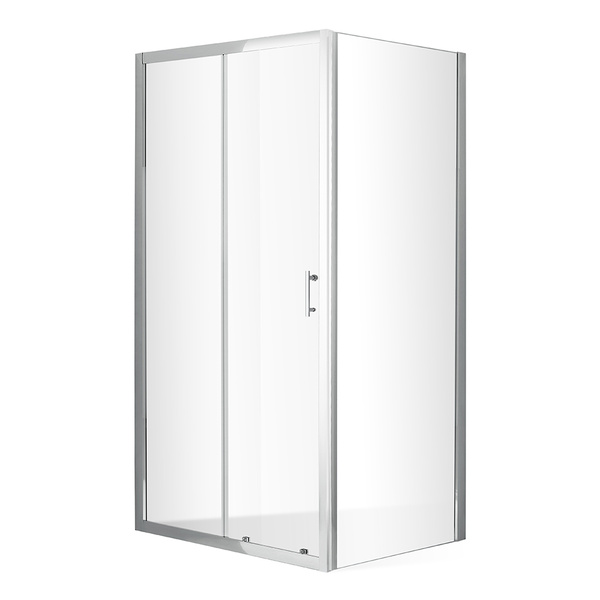 Posuvné sprchové dveře OBD2 s pevnou stěnou OBB Obdélníkový sprchový kout 1200x800 mm OBD2-120_OBB-80