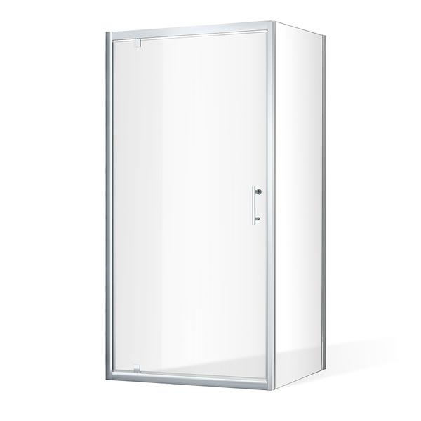 Otevírací jednokřídlé sprchové dveře OBDO1 s pevnou stěnou OBB Čtvercový sprchový kout 800x800 mm OBDO1-80_OBB-80