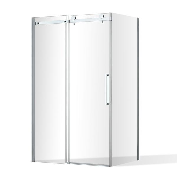 Posuvné sprchové dveře OBZD2 a pevná stěna OBZB Obdélníkový sprchový kout 1200x800 mm OBZD2-120_OBZB-80