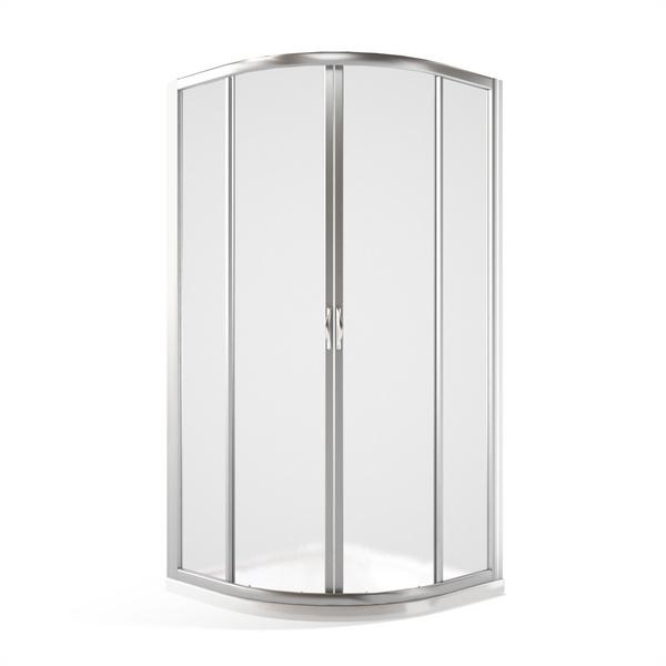 Čtvrtkruhový sprchový kout SMR2 900x900mm, bílá, sklo čiré 351-900R55N-04-02
