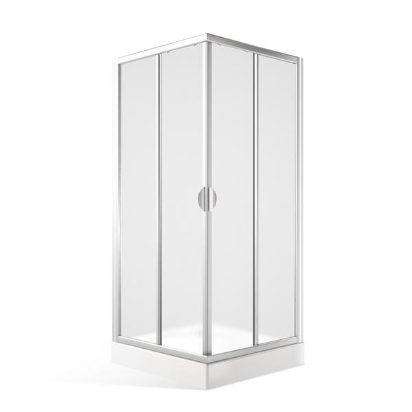 Čtvercový sprchový kout SMS2 s posuvnými dveřmi 1000x1000 mm, chrom, čiré sklo 352-1000000-04-02
